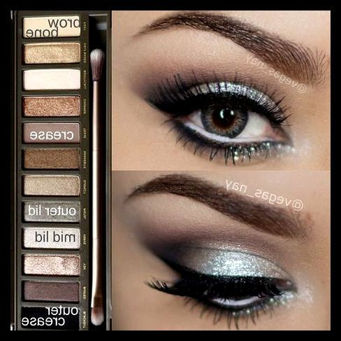 silver and white eyeshadow tutorial
