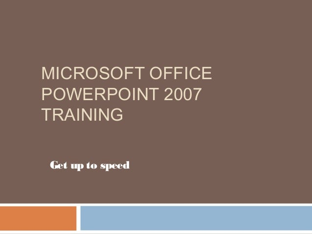 microsoft word 2007 tutorial for beginners ppt