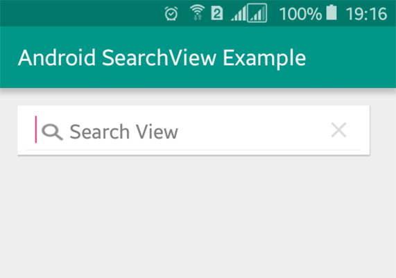 android search widget tutorial