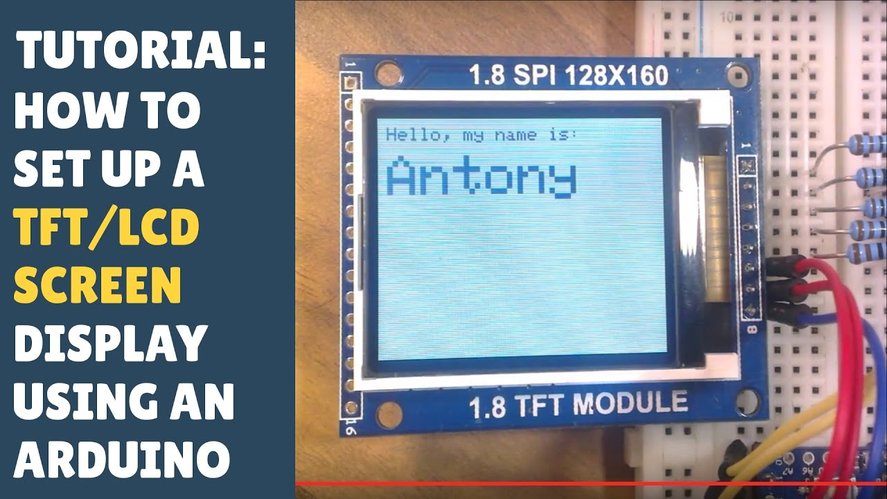 arduino color lcd display tutorial