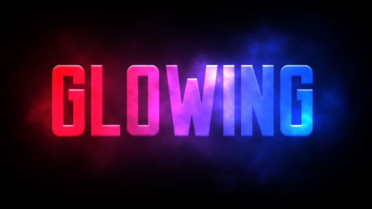 glowing text photoshop tutorial