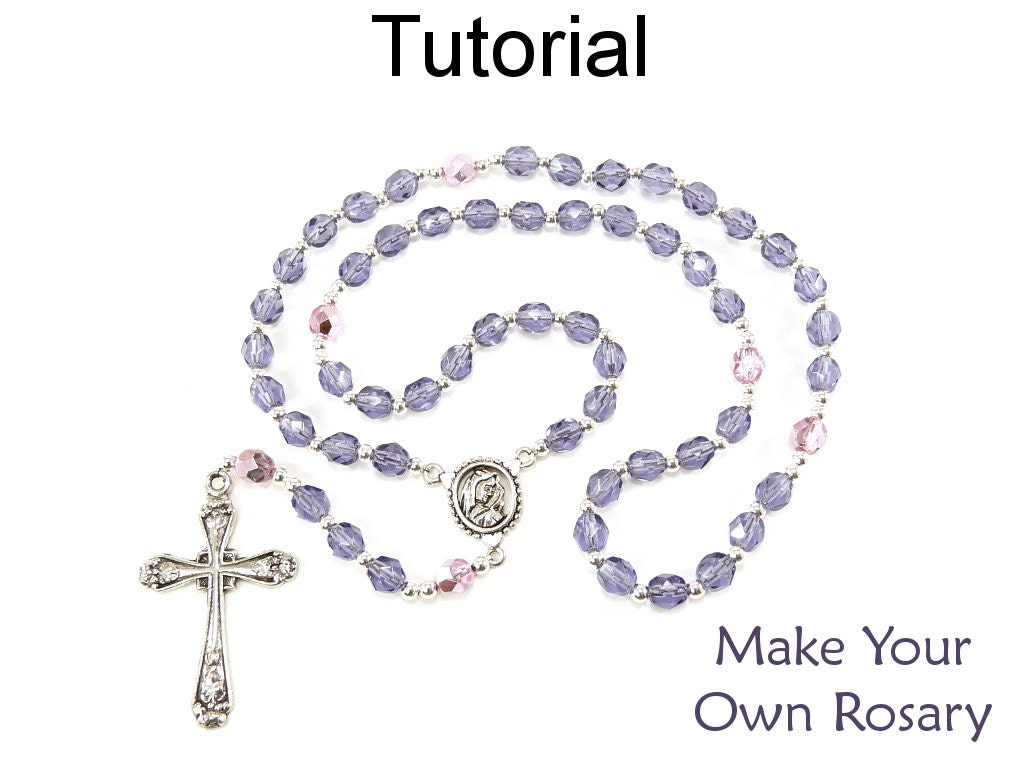 tutorial on making rosary beads with fondant